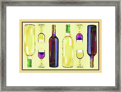 Let's Have Some Wine Framed Print by Susan Lafleur