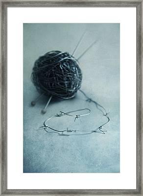 Lets Knit A Bit Framed Print by Jaroslaw Blaminsky