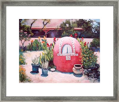 Framed Print featuring the painting Let's Make Bread by M Diane Bonaparte