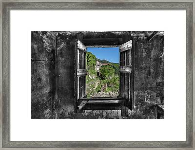 Let's Open The Windows - Apriamo Le Finestre Framed Print