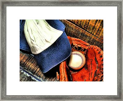 Let's Play Ball Framed Print by Jimmy Ostgard