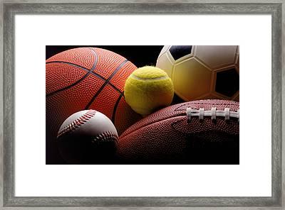 Lets Play Framed Print by Bob Nardi