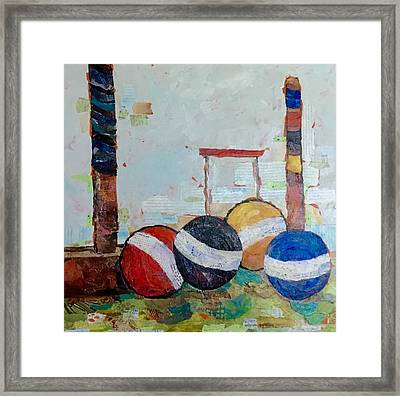 Let's Play Croquet Framed Print