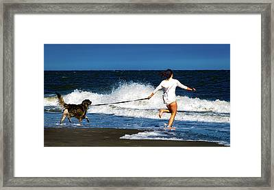 Let's Play In The Water Framed Print