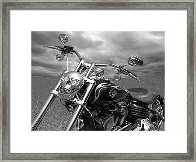 Framed Print featuring the photograph Let's Ride - Harley Davidson Motorcycle by Gill Billington