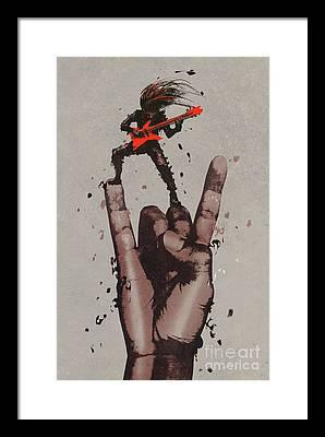 Rock N Roll Framed Prints