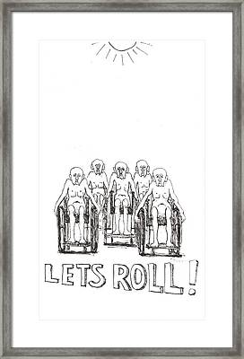 Lets Roll Framed Print by R  Allen Swezey