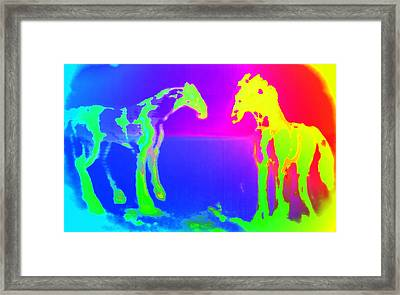 Lets Run Off Mate  Framed Print