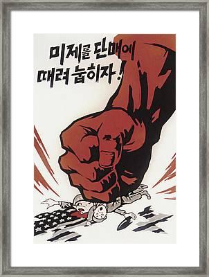 Let's Smash U. S. Imperialism Framed Print by Daniel Hagerman
