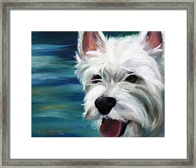 Let's Swim Framed Print