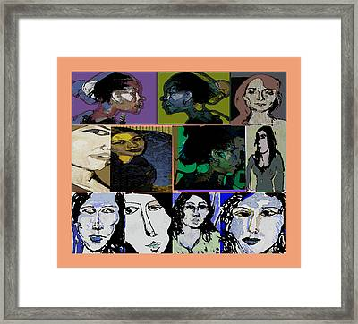 Lets's Make Faces Framed Print by Noredin Morgan