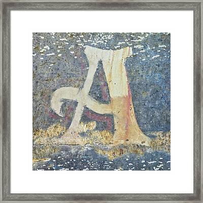 Letter A A La Monet Framed Print
