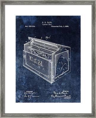 Letter Box Patent Framed Print