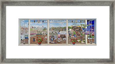 Letter Carriers Picture Window Of Brooklyn Framed Print by Bonnie Siracusa