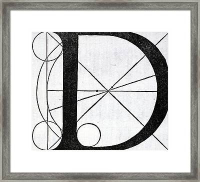 Letter D Framed Print