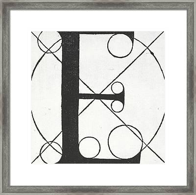 Letter E Framed Print by Leonardo Da Vinci
