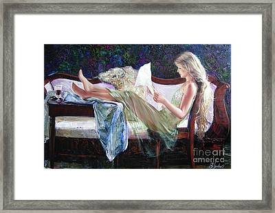 Letter From Him Framed Print by Sergey Ignatenko