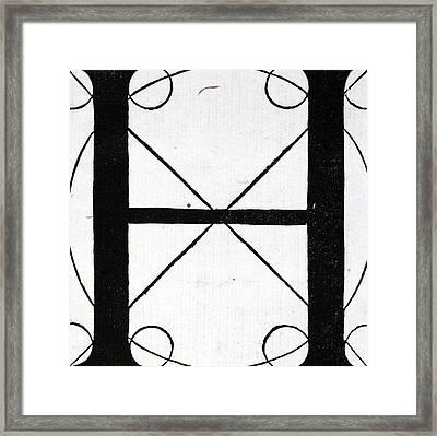 Letter H Framed Print by Leonardo Da Vinci