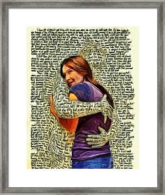 Letter Hug - Da Framed Print
