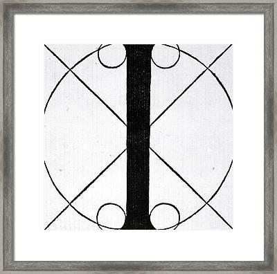Letter I Framed Print by Leonardo Da Vinci