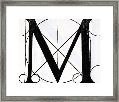Letter M Framed Print