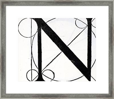 Letter N Framed Print