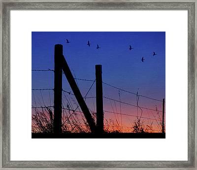 Letter N - Nebraska - Sunset Framed Print by Nikolyn McDonald