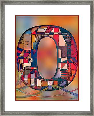 Letter O Framed Print by Mindy Newman