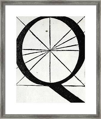 Letter Q Framed Print by Leonardo Da Vinci