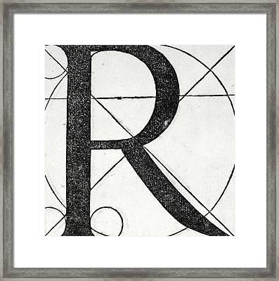 Letter R Framed Print by Leonardo Da Vinci