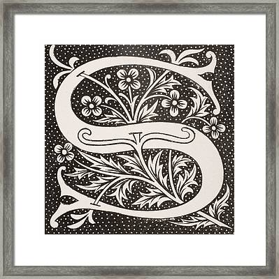 Letter S Framed Print by French School