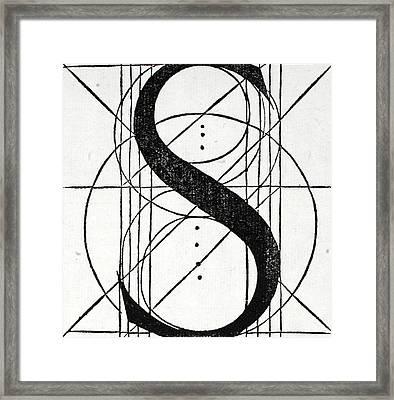 Letter S Framed Print by Leonardo Da Vinci