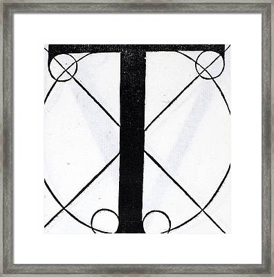 Letter T Framed Print by Leonardo Da Vinci