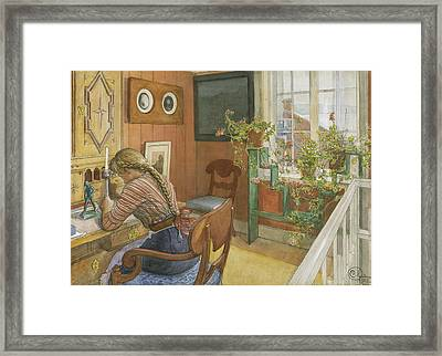 Letter-writing Framed Print
