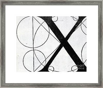 Letter X Framed Print by Leonardo Da Vinci