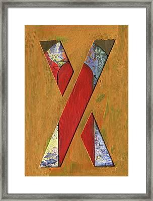 Letter X Framed Print