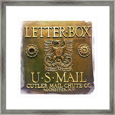 Letter Box Framed Print