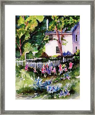 Framed Print featuring the painting Letterfrack Ireland by Marti Green
