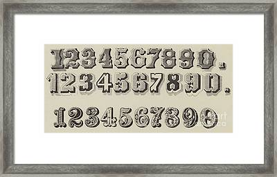 Letters And Numbers Framed Print by English School
