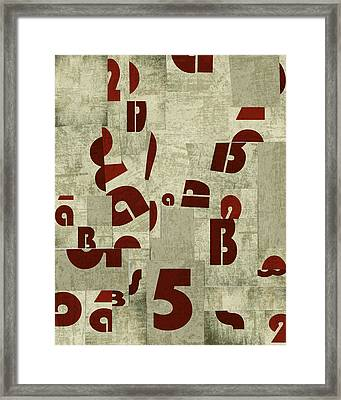 Letters Collage Framed Print by Larisa Siverina