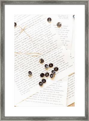 Letters Framed Print