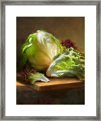 Lettuce Framed Print by Robert Papp