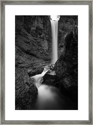Leuenfall In Black And White Framed Print