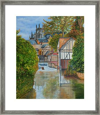 L'eure A Louviers -  France Framed Print
