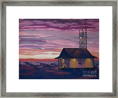 Leuty Life Guard House Framed Print by Tracy L Teeter