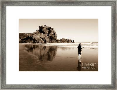 Framed Print featuring the photograph Lev And The Lion Rock  by Yurix Sardinelly