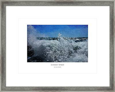 Framed Print featuring the digital art Levant Spray by Julian Perry