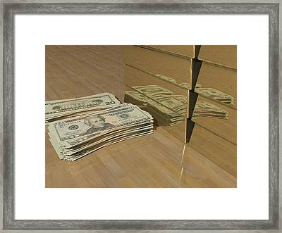 Level One Money Manifestation  Framed Print