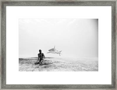 Levitation Framed Print by One ocean One breath
