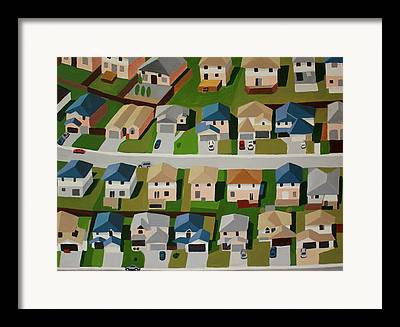 Residential Structure Paintings Framed Prints